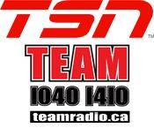 TSN Radio The Team 1040 1410 Vancouver 1050 Toronto 990 Montreal 1200 Ottawa 1290 Winnipeg