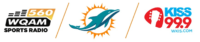 Miami Dolphins CBS Radio 560 WQAM Kiss 99.9 WKIS Big 105.9 WBGG-FM